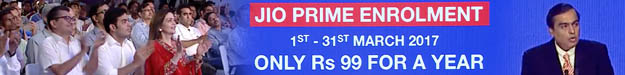 Reliance JIO PRIME yearly membership at only Rs. 99
